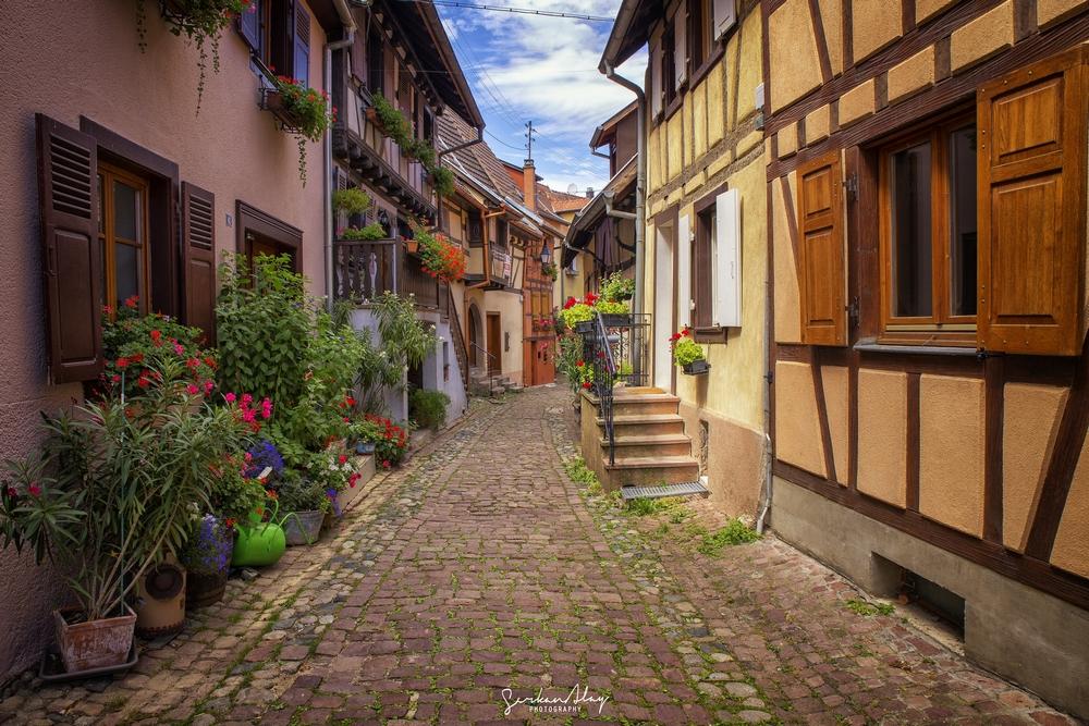 Eguisheim un très jolie village sur la route des vins